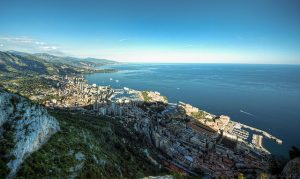 Monaco View of Monaco and Cap d'Ail from La Tete de Chien.