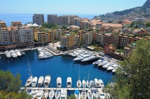 The port of Fontvieille Monaco