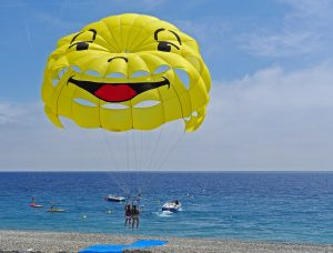 Parasailing in Nice France French Riviera
