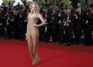"Actress McAdams arrives on the red carpet for the screening of the film ""Sleeping Beauty"" at the 64th Cannes Film Festival"