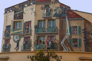 målade väggar cannes frankrike