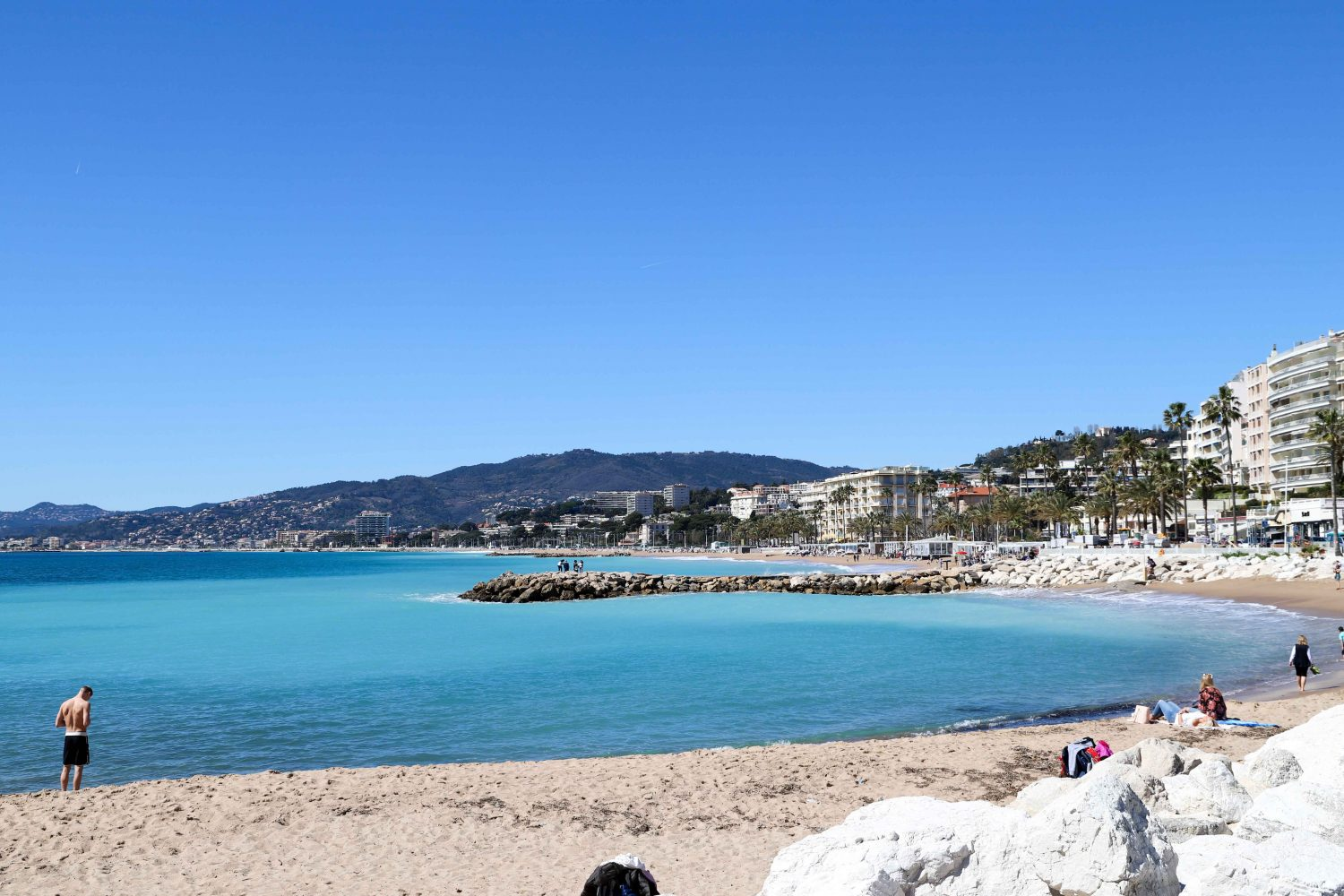 Beach in Cannes, France