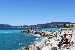 Cannes views of the Mediterranean