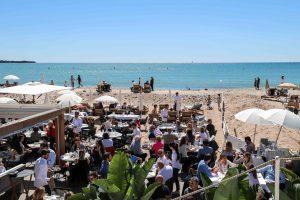 Cannes beach on the Croisette
