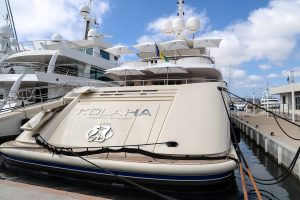Yacht in Cannes harbor Port Canto