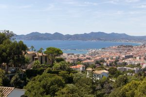 View over Cannes in direction of Saint-Tropez