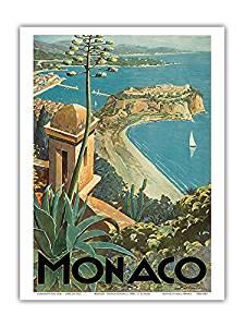 Monaco souvenir poster