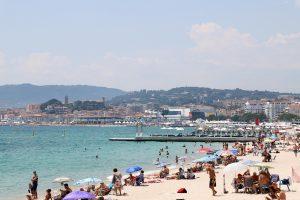 Cannes Croisette beach
