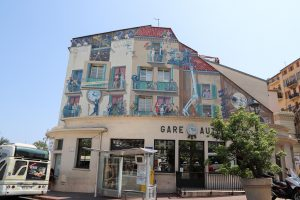 Cannes wall painting