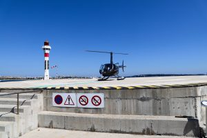 French Riviera helicopter